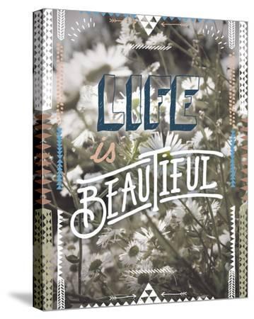 Life is Beautiful-Joana Joubert-Stretched Canvas Print