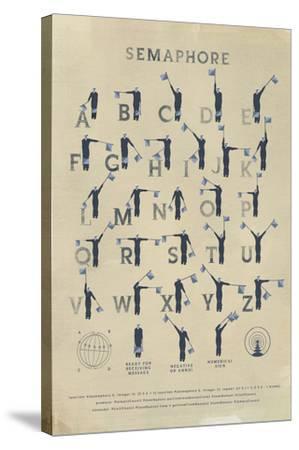 Semaphore-Ken Hurd-Stretched Canvas Print