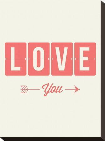 Love You Flip-Brett Wilson-Stretched Canvas Print