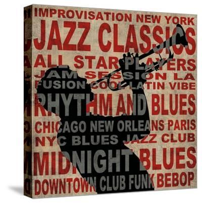 Jazz I-Luke Wilson-Stretched Canvas Print