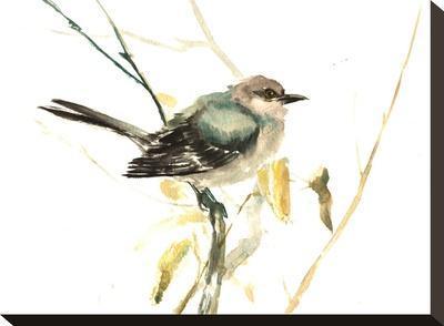 Mockingbird-Suren Nersisyan-Stretched Canvas Print