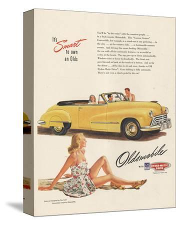 GM Oldsmobile - Smart to Own--Stretched Canvas Print