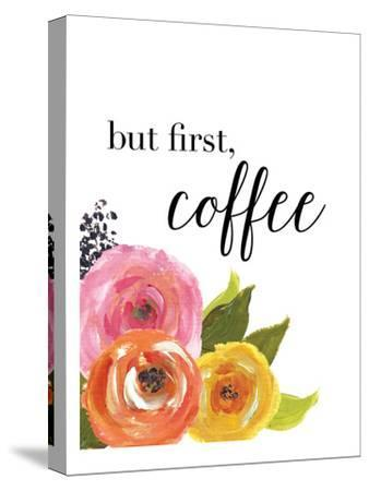 But First Coffee-Amy Brinkman-Stretched Canvas Print