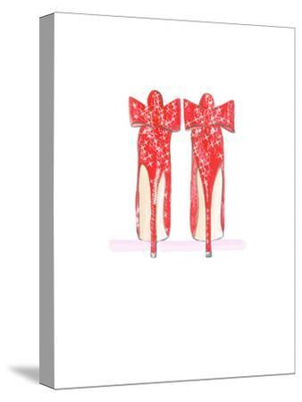 Red Shoe- Alison B Illustrations-Stretched Canvas Print