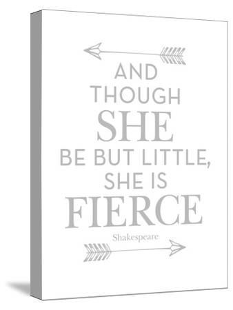 She Is Fierce Gray-Amy Brinkman-Stretched Canvas Print