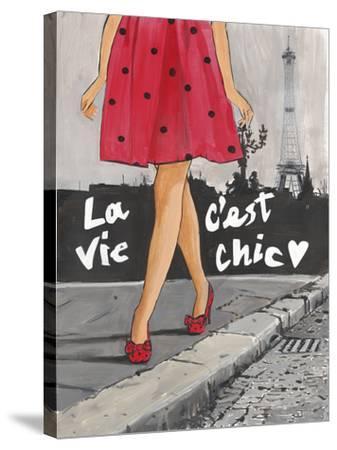 Polka Dot Paris II-Juliette McGill-Stretched Canvas Print