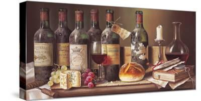 Tasting Clarets-Raymond Campbell-Stretched Canvas Print