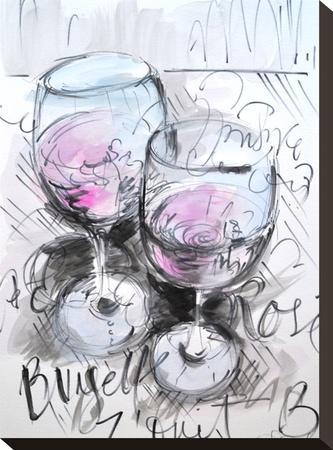 Parisian Rose-Cara Francis-Stretched Canvas Print