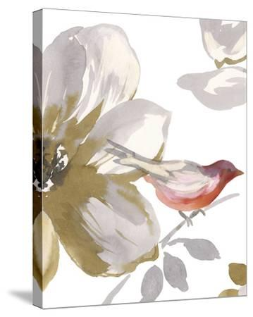 Bird Chatter I-Sandra Jacobs-Stretched Canvas Print