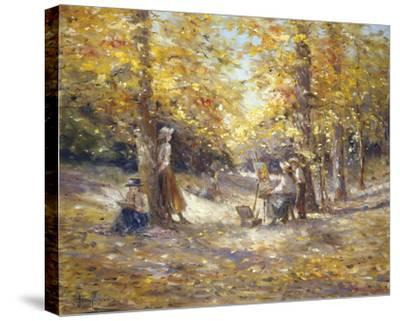 Autumn Paint Out-Judy Talacko-Stretched Canvas Print