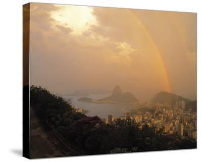 Rio Rainbow-Bent Rej-Stretched Canvas Print