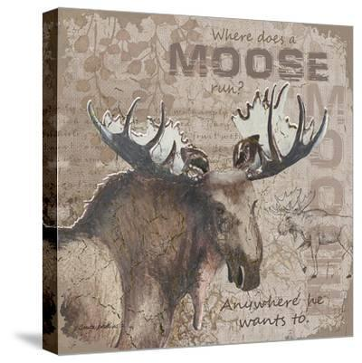 Where Does a Moose Run-Anita Phillips-Stretched Canvas Print