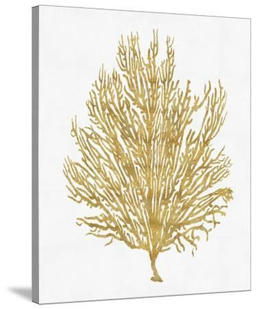 Sea Life - Gold on White V-Melonie Miller-Stretched Canvas Print