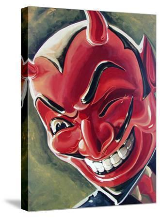 Devilish Grin-Mike Bell-Stretched Canvas Print