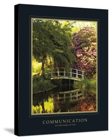 Communication-Bent Rej-Stretched Canvas Print