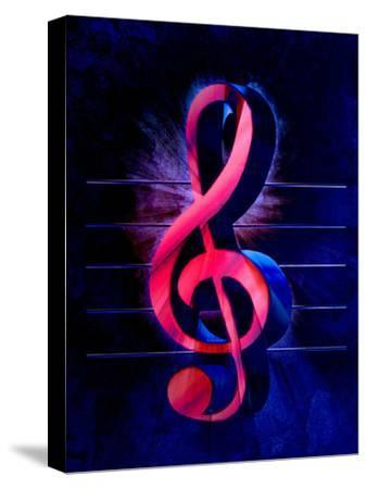 Colorful Music Clef Style-Wonderful Dream-Stretched Canvas Print