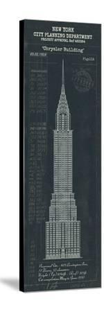 Chrysler Building Plan-The Vintage Collection-Stretched Canvas Print
