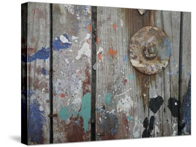 Aegean Brushstrokes V-Tony Koukos-Stretched Canvas Print