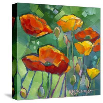 Poppy Dance-Karen Mathison Schmidt-Stretched Canvas Print