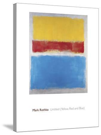 Untitled (Yellow, Red and Blue)-Mark Rothko-Stretched Canvas Print