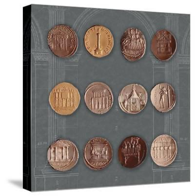 Roman Coins I-The Vintage Collection-Stretched Canvas Print