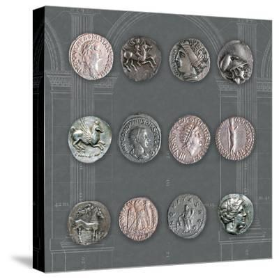 Roman Coins II-The Vintage Collection-Stretched Canvas Print