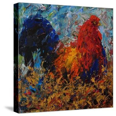 Rooster-Joseph Marshal Foster-Stretched Canvas Print