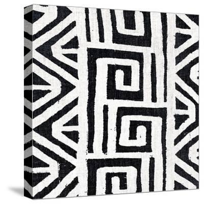 Mudcloth White VIII-Ellie Roberts-Stretched Canvas Print