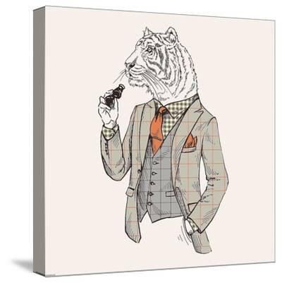 Tiger-man-GraphINC-Stretched Canvas Print