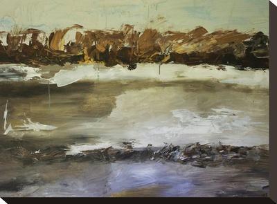 Winter Landscape-Laura D Zajac-Stretched Canvas Print