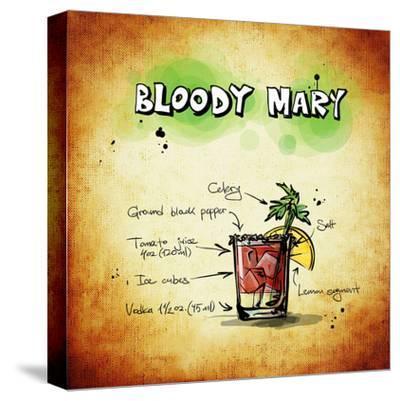 Bloody Mary Cocktail-Wonderful Dream-Stretched Canvas Print