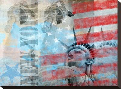 Statue Of Liberty 2-Lebens Art-Stretched Canvas Print