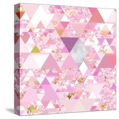 Triangles Abstract Pattern - Square 25-Grab My Art-Stretched Canvas Print