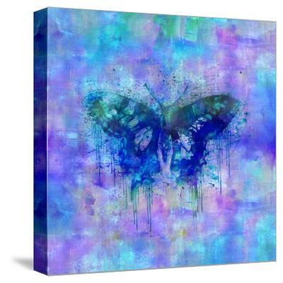 Butterfly - Square 2-Lebens Art-Stretched Canvas Print