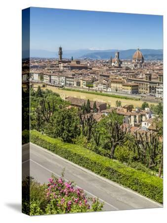 Florence Old Town-Melanie Viola-Stretched Canvas Print