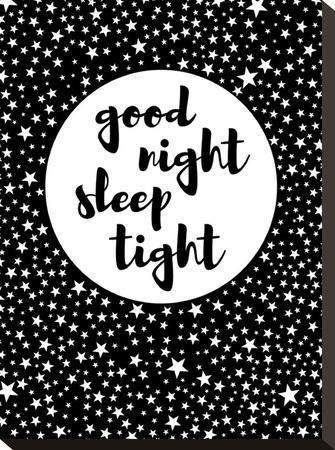 Goodnight-Nanamia Design-Stretched Canvas Print