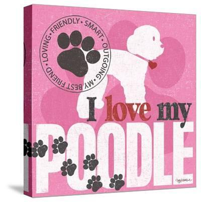 Poodle-Kathy Middlebrook-Stretched Canvas Print