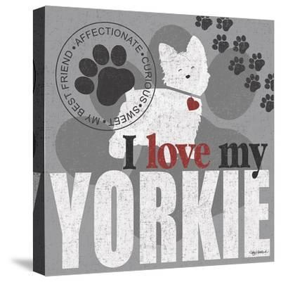 Yorkie-Kathy Middlebrook-Stretched Canvas Print
