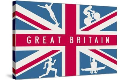 Sporting Britain I-The Vintage Collection-Stretched Canvas Print