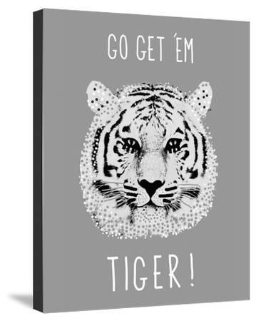 Go Get 'em Tiger!-Emilie Ramon-Stretched Canvas Print