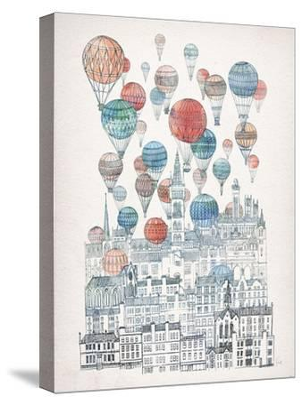 Voyages Over Glasgow-David Fleck-Stretched Canvas Print