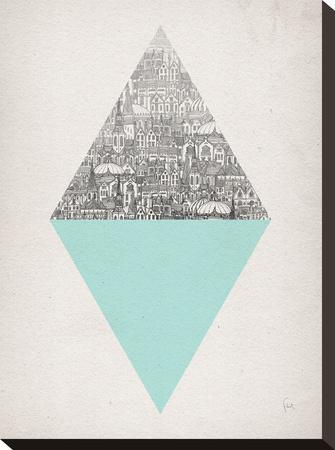 Diamond-David Fleck-Stretched Canvas Print