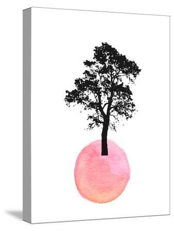 Pink Tree--Stretched Canvas Print