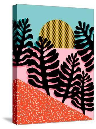 B F F-Wacka Designs-Stretched Canvas Print