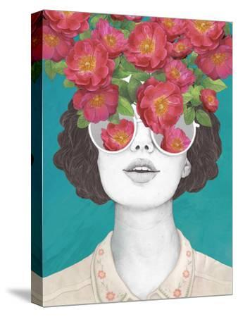 The Optimistrosetinted Glasses-Laura Graves-Stretched Canvas Print