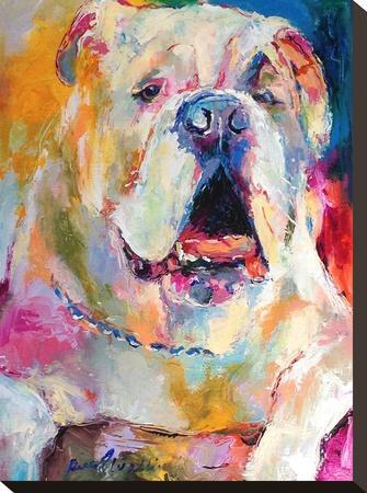 Bulldog-Richard Wallich-Stretched Canvas Print
