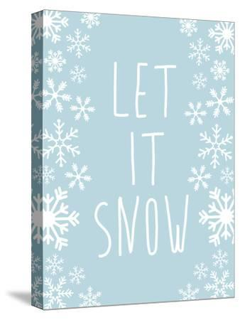 Light Blue Let It Snow-Jetty Printables-Stretched Canvas Print