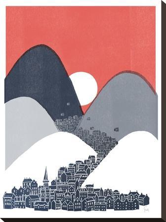 Midnight Sun-David Fleck-Stretched Canvas Print
