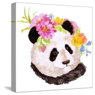 Panda-Edith Jackson-Stretched Canvas Print