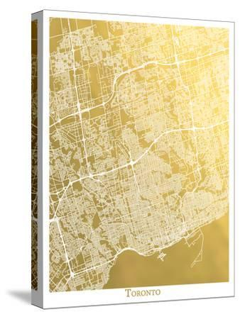 Toronto-The Gold Foil Map Company-Stretched Canvas Print